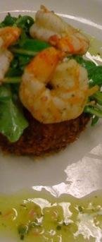 Fried Risotto Cake with Shrimp