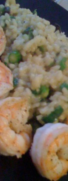 Shrimp with Vegetable Risotto